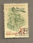 Sellos de Europa - Hungría -  Avión sobrevolando Szeged