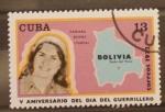 Sellos del Mundo : America : Cuba : V aniversario del dia del guerrillero, tamara bunke tania
