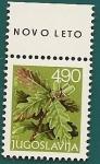 Stamps Yugoslavia -  Año nuevo - Naturaleza - Roble