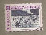 Stamps Poland -  Caballería de partisanos