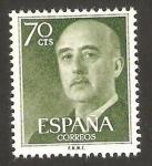 Stamps Spain -  1151 - franco