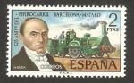 Stamps Spain -  2173 - 125 anivº del ferrocarril Barcelona Mataro