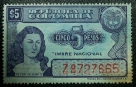 Stamps of the world : Colombia :  Timbre Nacional Policarpa Salavarrieta