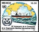 Sellos de America - México -  25 Aniversario O.M.I.