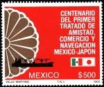 Stamps Mexico -  CENTENARIO DEL PRIMER TRATADO DE AMISTAD ,COMERCIO MÉXICO - JAPÓN