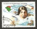 Sellos del Mundo : America : Nicaragua : juegos centroamericanos y del caribe, natación