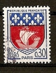 Sellos de Europa - Francia -  Escudos / Paris.- Color Rojo Desplazado en izquierda..