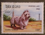 Sellos del Mundo : Asia : Laos : cairn terrier