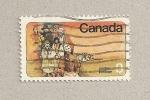 Sellos de America - Canadá -  Grupo personas