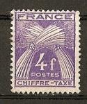 Sellos de Europa - Francia -  Tasas./ Leyenda Chiffre-Taxe.