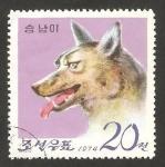 Sellos de Asia - Corea del norte -  un lobo