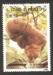 Stamps : Africa : São_Tomé_and_Príncipe :  25 anivº de greenpeace