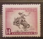 Sellos de America - Uruguay -  la doma