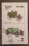 Sellos de Asia - Omán -  coches antiguos