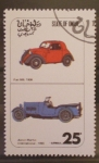 Sellos del Mundo : Asia : Omán : coches antiguos
