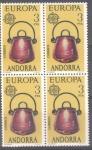 Sellos de Europa - Andorra -  ANDORRA_SCOTT 92x4 Europa. $0.40x4