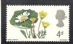 Sellos de Europa - Reino Unido -  Flores.