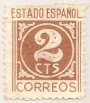 Stamps of the world : Spain :  Cifras