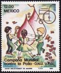 Stamps America - Mexico -  CAMPAÑA MUNDIAL CONTRA LA POLIO