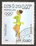 Sellos de Asia - Laos -  olimpiadas de invierno en sarajevo 84
