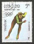 Stamps Laos -  olimpiadas de invierno en sarajevo 84