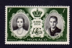 Stamps Europe - Monaco -  ENLACE REAL 19 AVRIL 1956