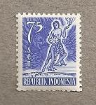 Stamps Indonesia -  Bailarín