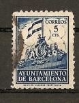 Stamps Europe - Spain -  Frontispicio del Ayuntamiento - Barcelona.