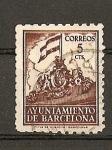 Stamps Europe - Spain -  Frontispicio del Ayuntamiento. - Barcelona.