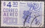 Sellos del Mundo : America : México : Mexico 1951 Scott C187 Sello º Oaxaca Danza de la Pluma correo Aereo 4,30$ Timbre Mexique