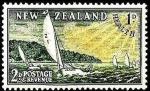 Stamps New Zealand -  Nueva Zelanda 1951 Scott B39 Sello ** Barcos Carreras de Yates Sobretasa 2 - 1d Nouvellle Zelande