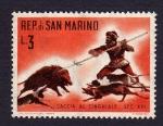 Sellos del Mundo : Europa : San_Marino :  CACCIA AL CINGLIALE SEC XVI