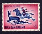 Sellos del Mundo : Europa : San_Marino :  CACCIA AL CAPRIOLO SEC. XVI