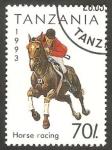 Stamps Tanzania -  deporte carrera de caballos