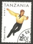 Stamps Tanzania -  deporte patinaje