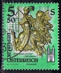 Stamps Austria -  Scott  1600  Death wooden estatua de Jose Stammel (2)
