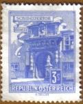 Stamps Austria -  Edificios - Puerta schweizertor