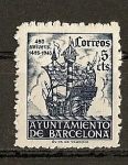 Stamps Europe - Spain -  450 Aniversario de la llegada de Colon a Barcelona.