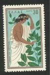 Stamps Europe - Greece -  Apolo junto a Dafne convertida en laurel. Mitología griega
