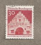 Stamps Germany -  Flensburg en Schleswig