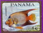 Stamps : America : Panama :  Holacanthus Ciliaris