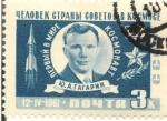 Sellos de Europa - Rusia -  12 IV 1961 PRIMER HOBRE EN EL ESPACIO