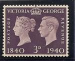Sellos de Europa - Reino Unido -  Centenario del sello (1840-1940)