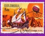 Sellos de America - Colombia -  Galeón a Cartagena