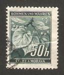Sellos del Mundo : Europa : Checoslovaquia : bohemia y moravia - 43 - hojas de tilo