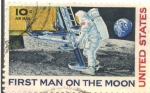 Sellos del Mundo : America : Estados_Unidos : FIRST MAN ON THE MOON