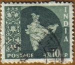 Sellos de Asia - India -  Mapa de India