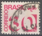 Stamps : America : Brazil :  BRASIL_SCOTT 1253 NUMERAL Y EMBLEMA DE CORREOS(30CTS). $0.20