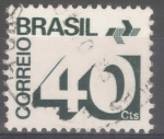 Stamps : America : Brazil :  BRASIL_SCOTT 1254 NUMERAL Y EMBLEMA DE CORREOS(40CTS). $0.20