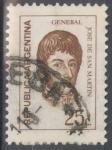 Stamps : America : Argentina :  ARGENTINA_SCOTT 933.01 GENERAL JOSE DE SAN MARTIN (25C). $0,20